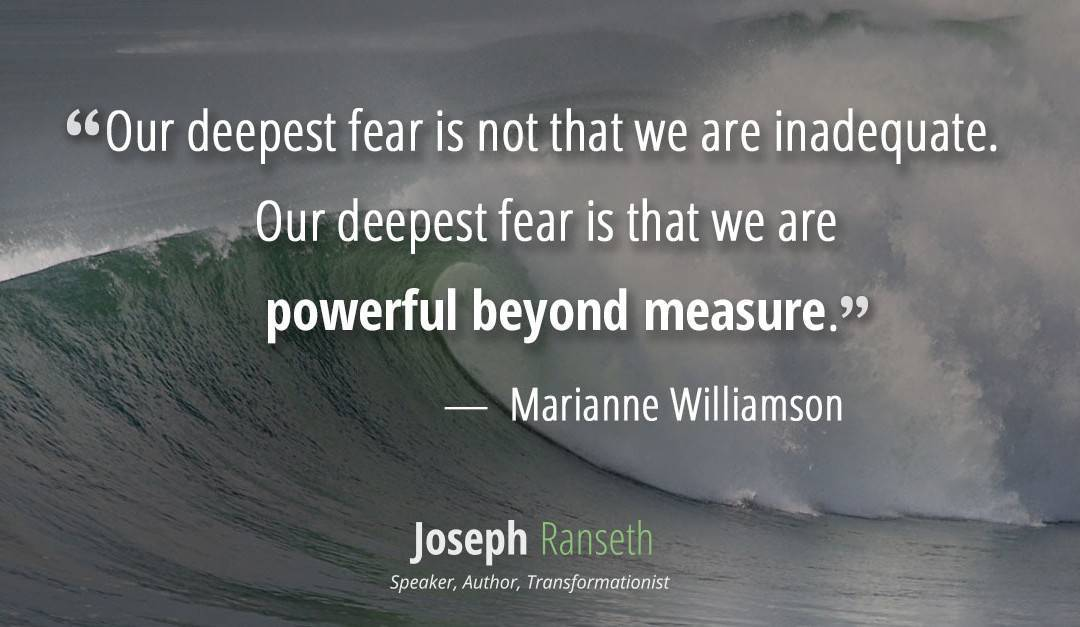 Our Deepest Fear quote by Marianne Williamson