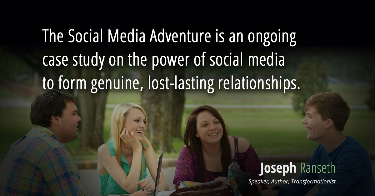 The Social Media Adventure is an ongoing case study on the power of social media to form genuine, lost-lasting relationships.