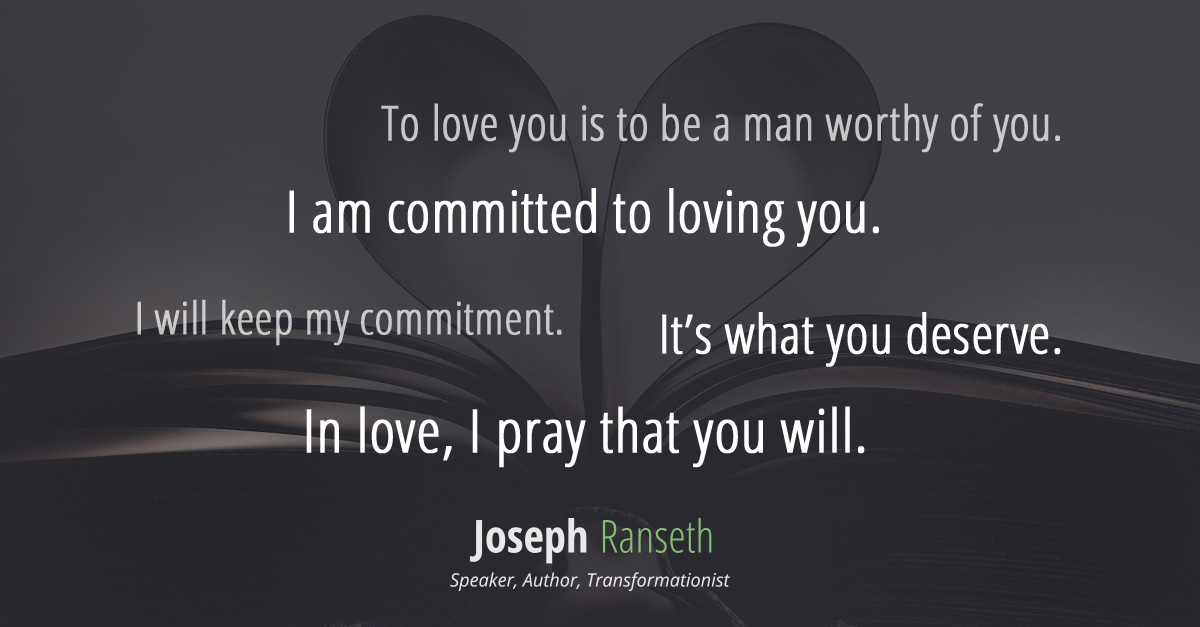 I'm more than interested in loving you, I'm committed.