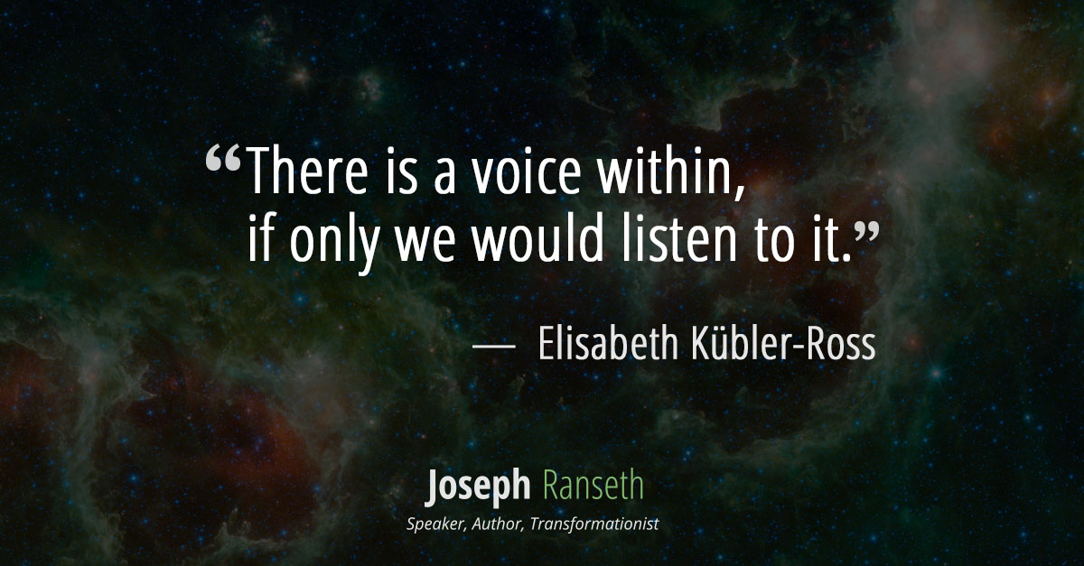 there is a voice within, if only we would listen to it