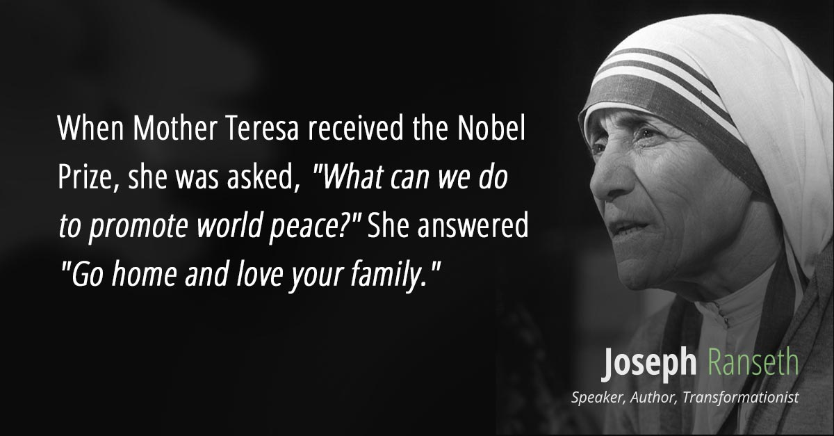 When Mother Teresa received the Nobel Prize